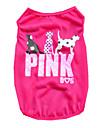 Собаки Футболка Жилет Одежда для собак Лето Буквы и цифры Милые На каждый день Лиловый Розовый Зеленый