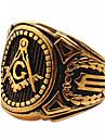 Массивные кольца Кольцо Титановая сталь Мода Золотой Бижутерия Повседневные 1шт