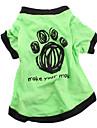 Собаки Футболка Одежда для собак Лето Весна/осень Буквы и цифры На каждый день Зеленый Синий