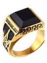 Массивные кольца Кольцо Оникс Агат Титановая сталь Мода Золотой Бижутерия Повседневные 1шт