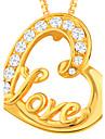 Муж. Женский Кулоны Сплав Имитация Алмазный Сердце Золотой Бижутерия Повседневные 1шт