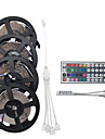 20m (4 * 5m) 1200smd 3528 rgb 44keys ir telecommande led led strip sets ac100-240v