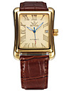 Men\'s Women\'s Unisex Sport Watch Fashion Watch Wrist watch Mechanical Watch Calendar Automatic self-winding Genuine Leather BandCasual