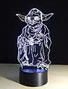 bulbificacao luz 3d 7 cores mudando brinquedos Millennium Falcon Darth Vader BB8 robo droid Mestre Yoda levou a iluminacao da