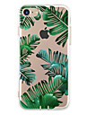 For Apple iPhone 7 7Plus 6S 6Plus Case Cover Green Leaves Pattern HD TPU Phone Shell Material Phone Case