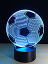 nouvelle forme de football creatif 3d illusion 7colors lumiere de nuit changeantes pour la decoration de la chambre