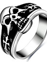 Ring Acrylic Halloween Party Daily Casual Jewelry 316L Titanium Steel Men Ring Size 6 7 8 Skull Punk Stainless Steel