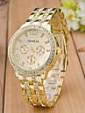 스포츠 시계 드레스 시계 패션 시계 손목 시계 모조 다이아몬드 시계 석영 모조 다이아몬드 라인석 로즈 골드 도금 합금 밴드 참 캐쥬얼 멀티컬러