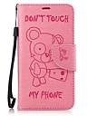 For Samsung Galaxy J3(2016) J5(2016) Case Cover Bear Pattern PU Material Embossed Mobile Phone Case J3 Prime