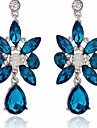 Drop Earrings Crystal Costume Jewelry Crystal Alloy Jewelry For Party Daily Casual