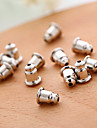 Fashion Daily Casual Alloy Bullet Shape Silver Earring Back Jewelry (20PCS/OPP)
