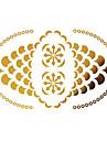 #(1) - Series bijoux - Dore - Motif - #(15x9) - Tatouages Autocollants Homme/Girl/Adulte/Adolescent