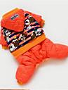Собаки Плащи Оранжевый Одежда для собак Весна/осень Животный принт Милые На каждый день