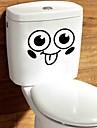 카툰 추상 벽 스티커 플레인 월스티커 데코레이티브 월 스티커 화장실 스티커,종이 비닐 자료 홈 장식 벽 데칼