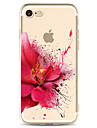 Para Estampada Capinha Capa Traseira Capinha Flor Macia TPU para Apple iPhone 7 Plus iPhone 7 iPhone 6s Plus/6 Plus iPhone 6s/6