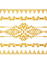 #(1) - Series bijoux - Dore - Motif - #(15x11.5) - Tatouages Autocollants Homme/Girl/Adulte/Adolescent