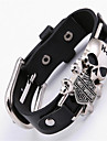 Bracelet Leather Bracelet Alloy Leather Skull Gothic Movie Jewelry Handmade Bohemia Punk Hip-Hop RockParty Special Occasion Anniversary