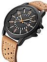 Men\'s Fashion Watch Wrist watch Calendar Quartz Leather Band Casual Unique Creative Cool Black Orange Brown