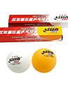 Unisex Table Tennis Ball High Elasticity Yellow White 6 Plastic