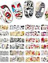 1pcs 12design Стикер искусства ногтя Вода Передача Переводные картинки макияж Косметические Ногтевой дизайн