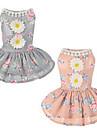 Собаки Платья Одежда для собак Лето Цветы Милые На каждый день Серый Розовый