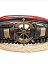 Wrap Bracelet Alloy Leather Rudder Anchor Fashion Vintage Women\'s Jewelry 1pc