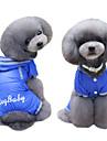 Собаки Плащи Толстовки Дождевик Комбинезоны Одежда для собак Зима Лето Весна/осень Английский Милые Мода Темно-синий Пурпурный