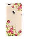 Для Прозрачный С узором Кейс для Задняя крышка Кейс для Цветы Мягкий TPU для AppleiPhone 7 Plus iPhone 7 iPhone 6s Plus iPhone 6 Plus