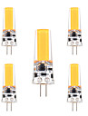 3W G4 LED a Double Broches T 1 COB 200-300 lm Blanc Chaud Blanc Froid Gradable Decorative AC 12 V 5 pieces