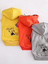 Собаки Толстовка Одежда для собак Весна/осень Мультфильмы Милые На каждый день Оранжевый Серый Красный