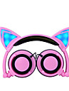Cute Cartoon Foldable Light Headband Chlidren Headphones Kids Hearing Protection 3.5mm Wired Headset