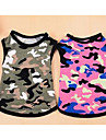 Собаки Футболка Одежда для собак Лето Однотонный Милые На каждый день Розовый Камуфляж цвета