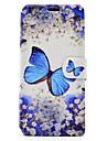 Pour Porte Carte Avec Support Clapet Motif Magnetique Coque Coque Integrale Coque Papillon Dur Cuir PU pour SonySony Xperia XA Sony