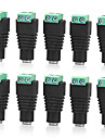 10 Pcs 5.5mm x 2.1mm DC Power Cable Female Connector Plug for CCTV Camera