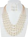 Femme Set de Bijoux euroamericains bijoux de fantaisie Perle Bijoux 1 Collier 1 Paire de Boucles d\'Oreille Pour Mariage Soiree Quotidien