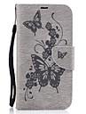 Pour Porte Carte Portefeuille Avec Support Clapet Relief Coque Coque Integrale Coque Papillon Dur Cuir PU pour MotorolaMoto G4 plus MOTO