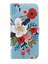 Pour Portefeuille Porte Carte Avec Support Clapet Coque Coque Integrale Coque Fleur Dur Cuir PU pour AppleiPhone 7 Plus iPhone 7 iPhone