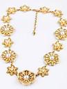 Жен. Пряди Ожерелья В форме цветка Уникальный дизайн Мода Желтый Бижутерия Для Свадьба 1шт
