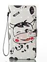 Для Кошелек Бумажник для карт со стендом Флип С узором Магнитный Кейс для Чехол Кейс для Мультяшная тематика Твердый Искусственная кожа