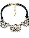 Жен. Пряди Ожерелья В форме цветка Мода По заказу покупателя Белый Бижутерия Для 1шт