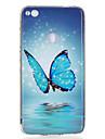 Для Сияние в темноте IMD С узором Кейс для Задняя крышка Кейс для Бабочка Мягкий TPU для HuaweiHuawei P10 Lite Huawei P10 Huawei P9 Lite