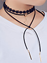 Women\'s Choker Necklaces Statement Necklaces Layered Necklaces Jewelry Triangle Shape Leather Lace CopperUnique Design Dangling Style