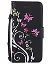Для Чехлы панели Кошелек Бумажник для карт Чехол Кейс для Цветы Твердый Искусственная кожа для AppleiPhone 7 Plus iPhone 7 iPhone 6s Plus