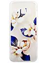 Pour Transparente Motif Coque Coque Arriere Coque Fleur Flexible PUT pour Samsung S8 S8 Plus