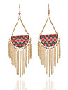Tassel Geometric Drop Earrings Jewelry Unique Design Bohemia Party Daily Casual Alloy Acrylic 1 pair Multi Color