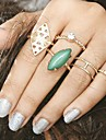 5Pcs/set Midi Rings Unique Design Bohemian British Alloy Jewelry For Party Halloween Daily Casual 1 Set