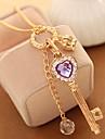 Women\'s Choker Necklaces Pendant Necklaces Chain Necklaces Crystal Rhinestone Heart Crown Rhinestone Alloy Basic Unique Design Dangling