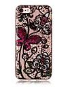 Para o iphone da maca 7 7 mais 6s 6 mais o se 5s 5 caixa do caso 5c borboleta flores o teste padrao hd pintou o material do tpu caixa do