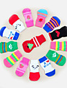 Cat Dog Socks Cute Casual/Daily Keep Warm Stripe Cartoon Random Color