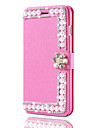 Etui en cuir de luxe pour iphone 7 plus 7 flip cover glitter shells en diamant brillant pour iphone 6 plus 6s